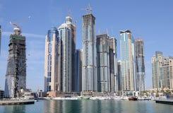 budowy Dubai marina fotografia royalty free