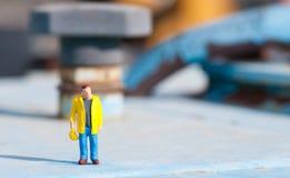 budowy figurki pracownik Fotografia Stock