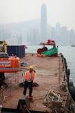 budowy Hong kong pracownik Zdjęcia Royalty Free