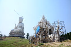 Budowy i budowy Bodhisattva bogini statua Fotografia Royalty Free