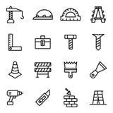 Budowy i domu naprawy narzędzia ilustracja wektor