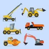 Budowy i drogi maszyneria Ikony, majchery royalty ilustracja
