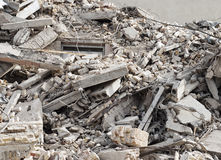 Budowy i rozbiórki gruzy Obrazy Stock