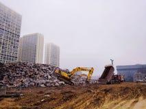 Budowy jamy miejsce obraz stock