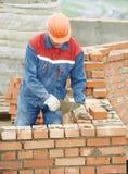 Budowy kamieniarza pracownika murarz obrazy stock