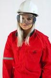 budowy kobiet pracownik Fotografia Royalty Free