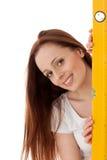 budowy kobiety pozioma pracownik Fotografia Royalty Free