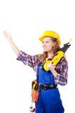 budowy kobiety pracownik Zdjęcie Stock