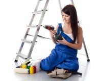 budowy kobiety pracownik Fotografia Royalty Free