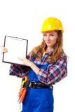budowy kobiety pracownik Obraz Stock