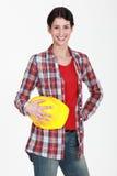 budowy kobiety pracownik Zdjęcie Royalty Free