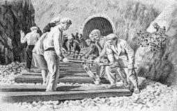 budowy linia kolejowa Zdjęcie Royalty Free