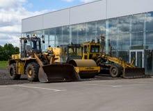 Budowy maszyneria przy nowym wartko budującym pawilonem Obrazy Stock