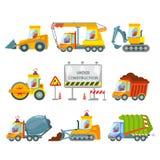 Budowy maszynerii ikony set Obraz Royalty Free