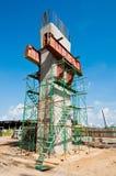 budowy metra słupów poręcz Obrazy Royalty Free