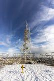 Budowy na drapaczu chmur fotografia stock