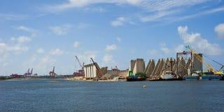 budowy nabrzeże Zdjęcia Stock