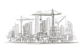 Budowy nakreślenie wektor płatowaty Obrazy Stock