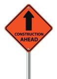 Budowy Naprzód ruchu drogowego znak royalty ilustracja