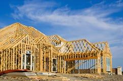 Budowy nowa domowa otoczka Obrazy Stock