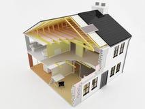 budowy nowy domowy ilustracji