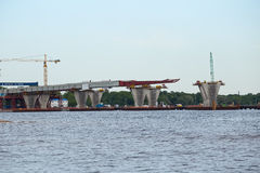 Budowy prędkości zachodnia wysoka średnica, mostów poparcia Obraz Stock