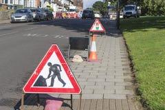 budowy przykopu instalacyjne drogowe pracy Fotografia Royalty Free