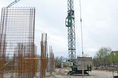 Budowy Site/Crane/armatura Obrazy Stock
