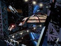 budowy statek kosmiczny ilustracja wektor