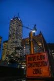 Budowy strefy znak Zdjęcie Royalty Free