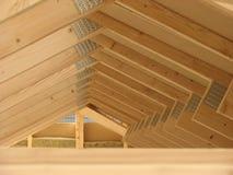 budowy struktury domu dach drewniany Fotografia Royalty Free