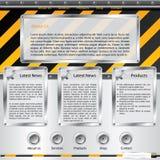 budowy szablonu strona internetowa ilustracji