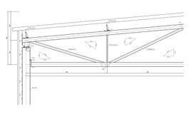 budowy truss rysunkowy stalowy Obraz Stock