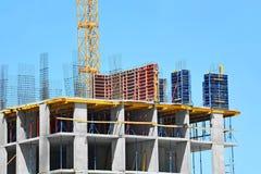 budowy żurawia highrise miejsce Zdjęcie Stock
