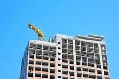 budowy żurawia highrise miejsce Fotografia Royalty Free