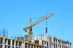budowy żurawia highrise miejsce Zdjęcia Royalty Free