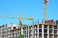 budowy żurawia highrise miejsce Obraz Stock