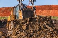 Budowy wnioskodawcy maszyny Ziemski zbliżenie Fotografia Royalty Free