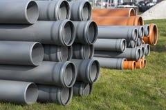 Budowy wyposażenie - pvc drymby obrazy stock