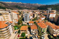 Budua, Montenegro, la vista dal grattacielo nella c Immagini Stock Libere da Diritti