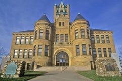 Budujący w Iowa mieście, Iowa Fotografia Royalty Free