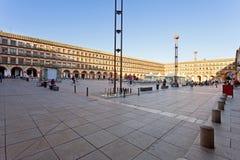 Budujący w placu Corredera w cordobie, Andalusia, obraz stock