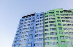 Budujący kondygnacja budynek mieszkalny Fotografia Stock