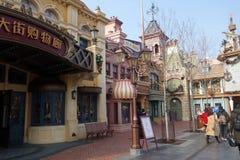 Budujący w Disneyland parku w Szanghaj, Chiny Obrazy Stock