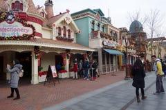Budujący w Disneyland parku w Szanghaj, Chiny Zdjęcie Royalty Free