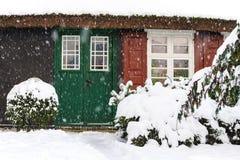 Budujący w zima czasie w Ahrenshoop, Niemcy Obraz Stock