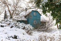 Budujący w zima czasie w Ahrenshoop, Niemcy Fotografia Stock