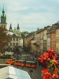 1990 budujących Lviv opery theatre Ukraine Zdjęcie Royalty Free