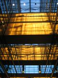 buduje 2 szklany wnętrze obraz royalty free