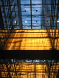 buduje 3 szklany wnętrze Obraz Stock
